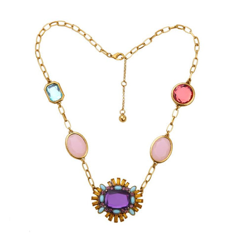 Marilyn Large Multi Gem Statement Neckpiece