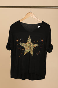 Lucie Star Print Top