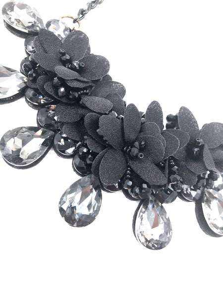 Madeline Black Statement Necklace