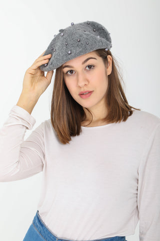 Madison Pearl Grey Beret