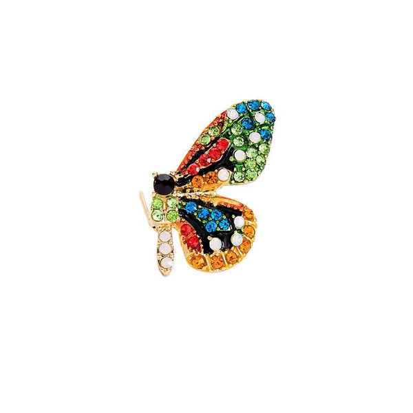 Maria Crystal Butterfly Brooch