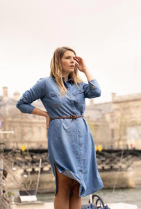 Matilda Belted Denim Dress