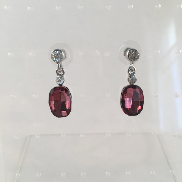 Deep Rose Crystal Earring
