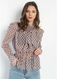 Meaghan Chain Print Blouse