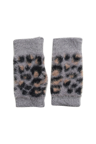 Melisa Arm Warmers Grey Animal Print
