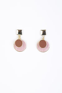 Melissa Pink and Gold Disc Earring
