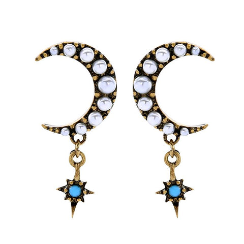 Moon and Star Earring