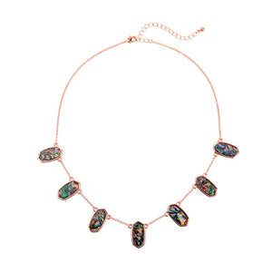 Robin Mottle Resin Necklace