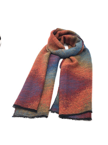 Vicki Crinkle Detail Scarf Multi Colour