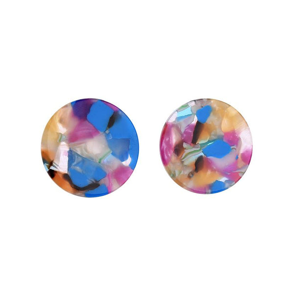 Evelyn Resin Disc Earring