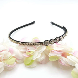 Lucy Narrow Black Embellished Head Band