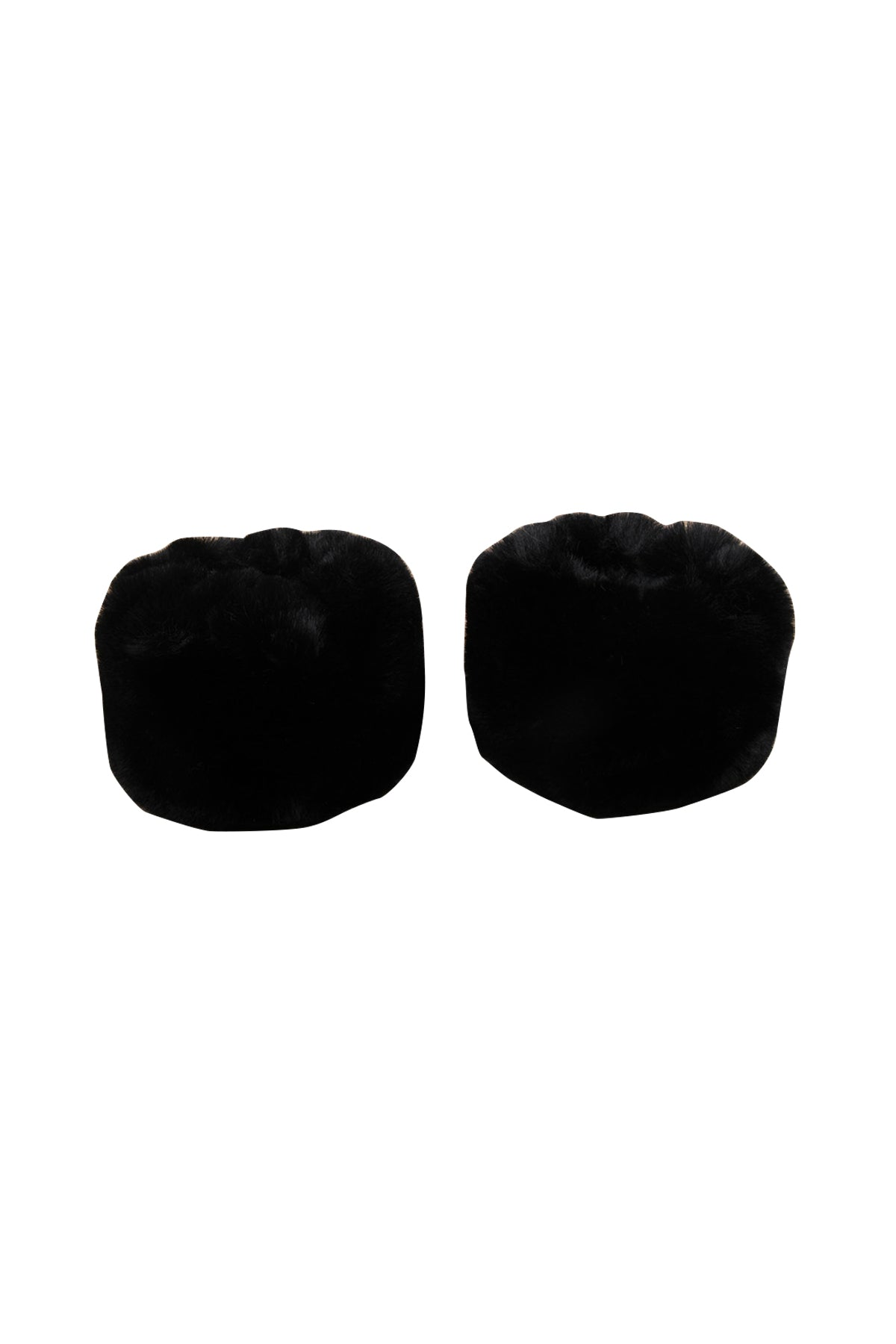 Nola Faux Fur Cuffs Black