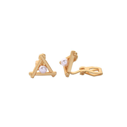 Nora Pearl in Triangle Clip On Earring