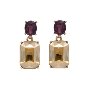 Faith Amber & Burgundy Earrings