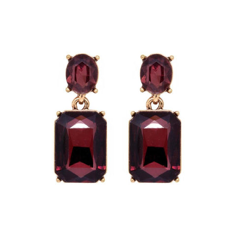 Faith Burgundy Earrings