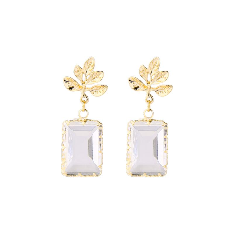 Pamela Leaf and Glass Drop Earring