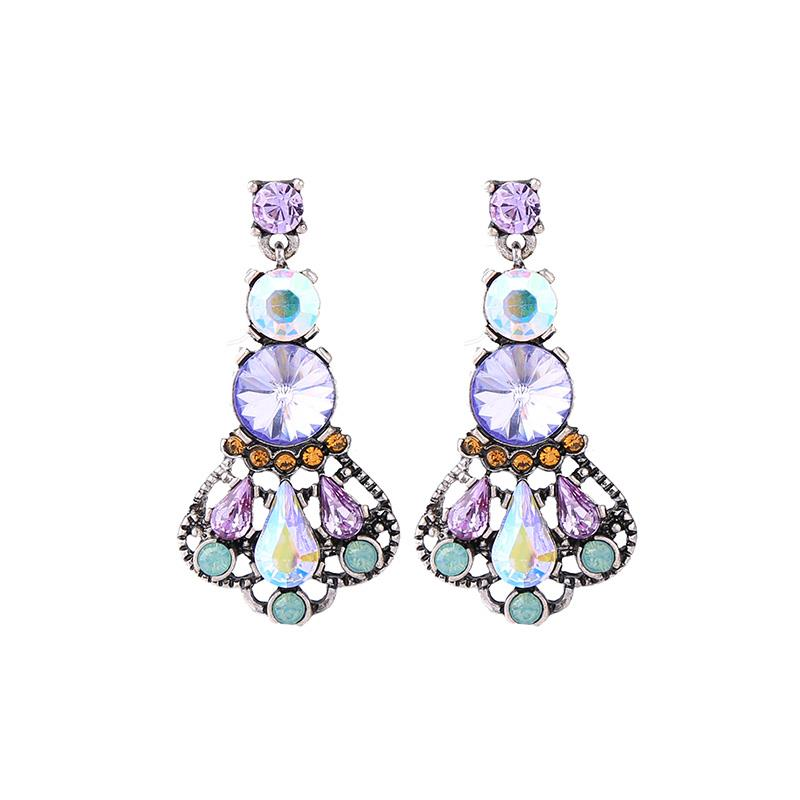 Lucy Large Crystal Drop Earring