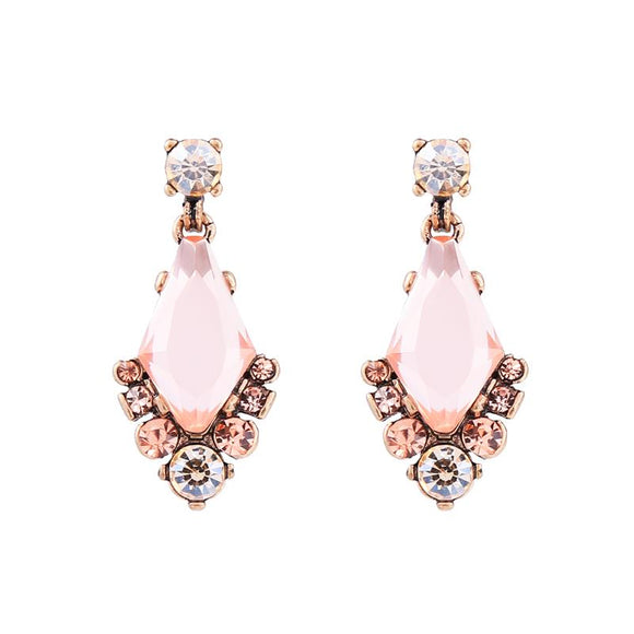 Rose and Peach Drop Earring