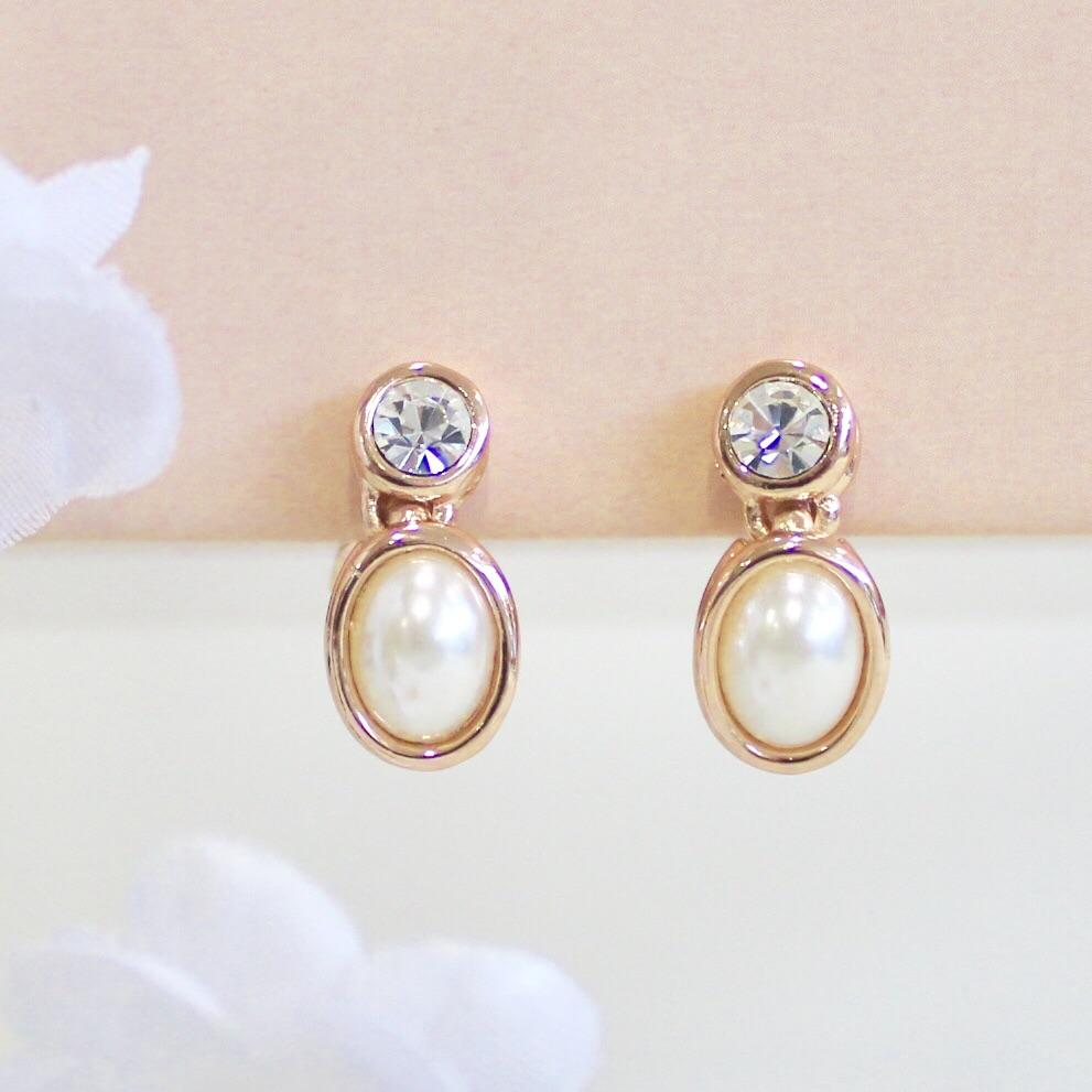 Marian Pearl Drop Clip-On Earrings
