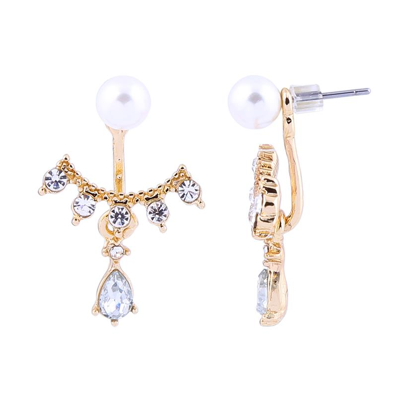 Ruth Pearl Arc Drop Earring
