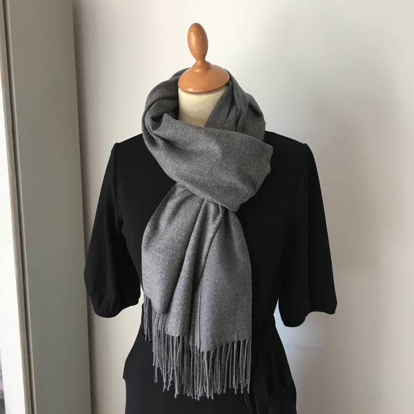 Grey Light Cashmere Feel Scarf