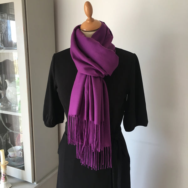 Purple Light Cashmere Feel Scarf