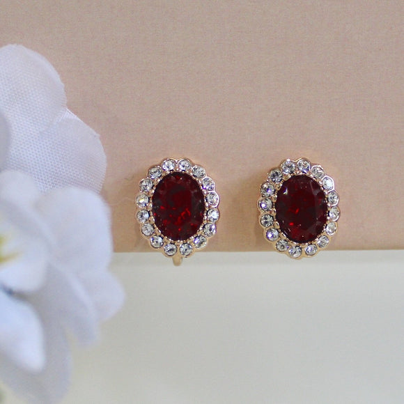 Red Clip-On Earrings