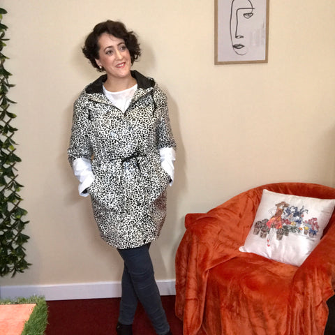Rhona Animal Print Raincoat