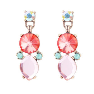 Kali Rose & Peach Crystal Gem Drop Earring