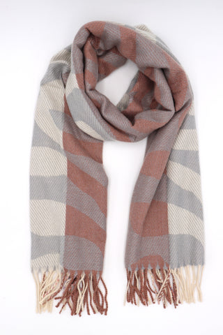 Sabina Reversible Scarf Grey and Camel