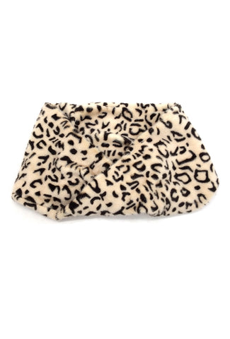 Sara Leopard Print Faux Fur Snood