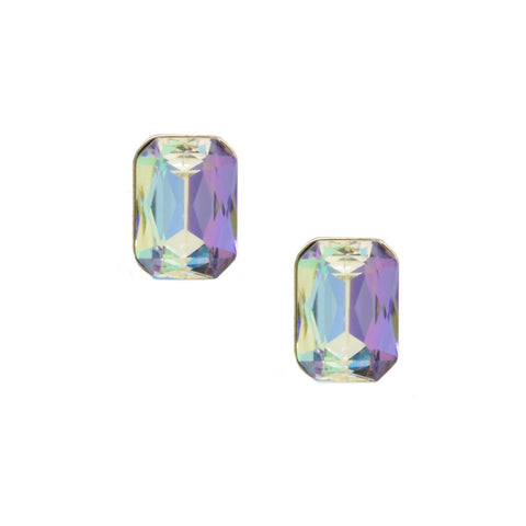 Lisa Single Gem Lilac Ombre Earrings