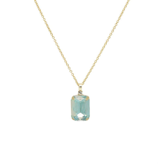 Aria Ombre Green Gem and Crystal Necklace
