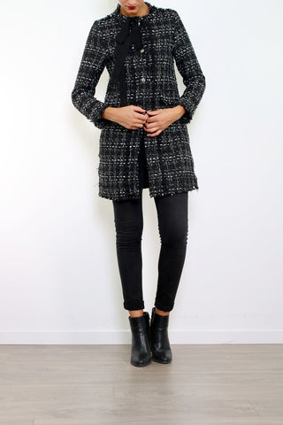 Sofia Tweed Ribbon Coat