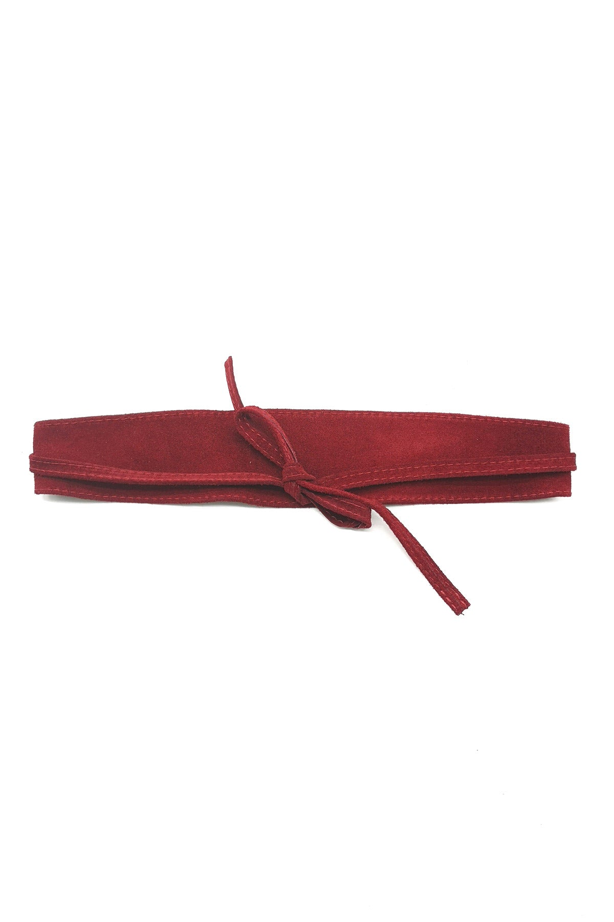 Sue Obi Belt Burgundy
