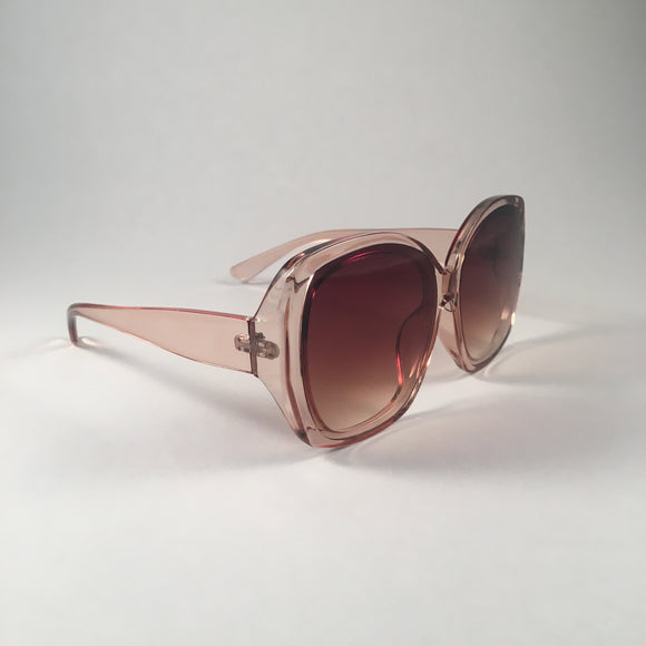 Nude Oversized Curved Sunglasses