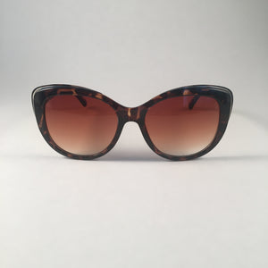 Tan Tortoiseshell Curved Sunglasses