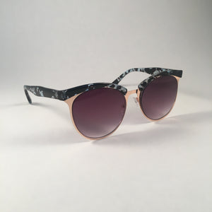 Teal Animal Print Sunglasses