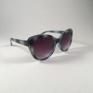 Teal Tortoiseshell Curved Sunglasses