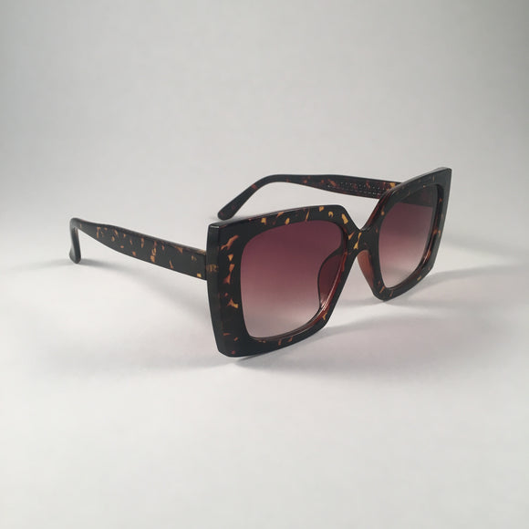 Tan Tortoiseshell Square Sunglasses