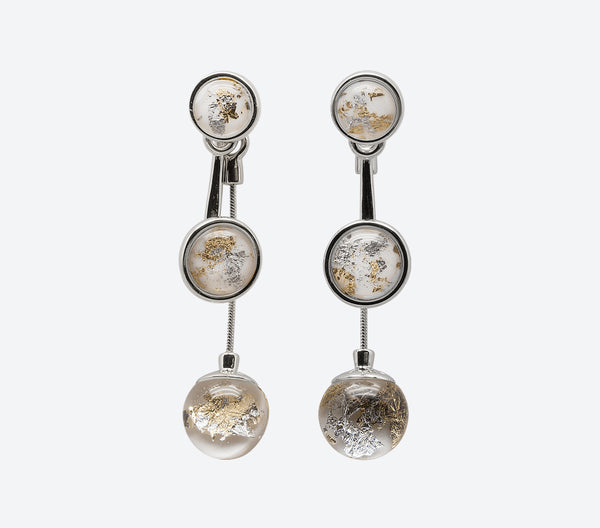 The World Earrings Silver/White