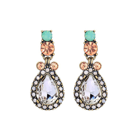 Vintage Mint Teardrop Earring