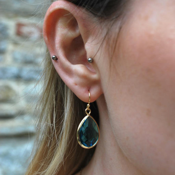 Tiffany Faceted Teardrop Earring Turquoise