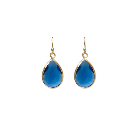 Tiffany Faceted Teardrop Earring Blue