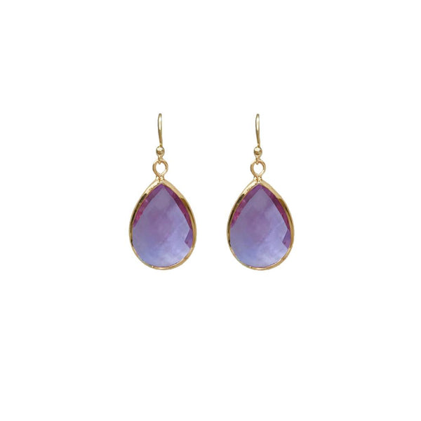 Tiffany Faceted Teardrop Earring Lilac