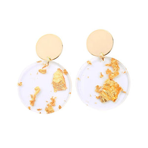 Gemma Twin Disc Gold Foil Earrings