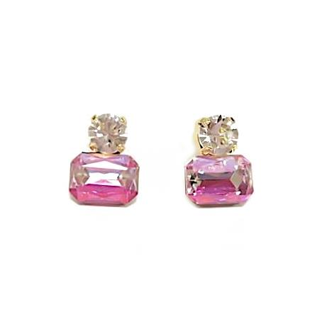 Piper Ombre Pink Twin Gem Earring