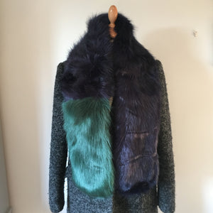 Two Tone Faux Fur Stole