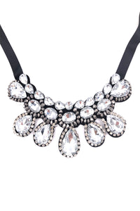 Vivian Statement Ribbon Tie Necklace