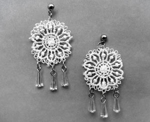 Tabetha White Lace Earring